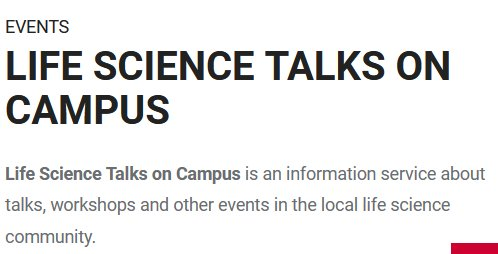 The CellNetworks event calendar for life sciences in Heidelberg